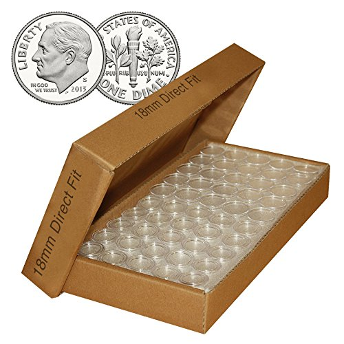 DIME-Direct-Fit-Airtight-18mm-Coin-Capsule-Holders-For-DIMES-QTY-1000