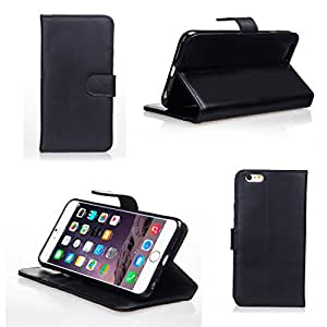 Bear Motion for iPhone 6 5.5 - Premium 100% Genuine Top Layer Leather Case for iPhone 6 Plus / iPhone 6 with 5.5 inch Screen (Black)