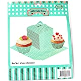 PrettyurParty Blue Polka Dot Cupcake Box - (Pack Of 6)