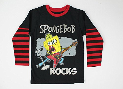 Alfa Global Boy'S Spongebob Long Sleeve Rocks T-Shirt 5T front-455938