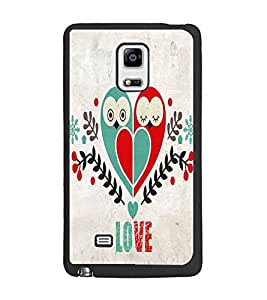 PrintDhaba Love Heart D-4060 Back Case Cover for SAMSUNG GALAXY NOTE 4 (Multi-Coloured)