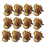 12 Pcs Ladies Brown Plastic Mini Hairpin 6 Claws Hair Clip Clamp Reviews