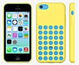 Slim Silicone Soft Case Cover for Apple Iphone 5c 6 Colors (Yellow)
