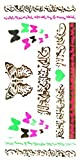 Grashine Waterproof And Non Toxic Waterproof And Non Toxic Golden Fluorescent Metallic Temporary Tattoo Colorful Butterflies And Ancient Words