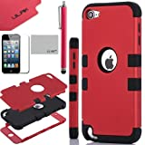 Pandamimi ULAK(TM) Hybrid 3 Layer Hard Case with Silicone Soft Shell Inside Case for Apple iPod Touch Generation 5 + Stylus + Screen Protector