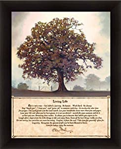 Amazon Com Living Life By Bonnie Mohr Life Is A Journey Quote Sign 18 5x22 5 In Art Print Framed Picture Living Tree Poem Posters Amp Prints