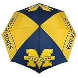 NCAA Michigan Wolverines 62-Inch WindSheer Hybrid Umbrella