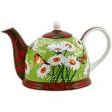 Iglu Kanne Design: Wiese grün mit Dekorkante - 1,8L Teekanne aus Leichtkeramik mit Deckel 5980