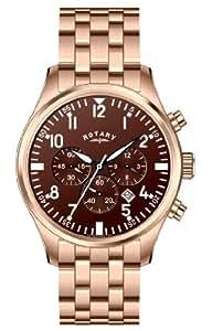 Rotary Herren-Armbanduhr XL Timepieces Chronograph Quarz Edelstahl beschichtet GB00109/16/KIT
