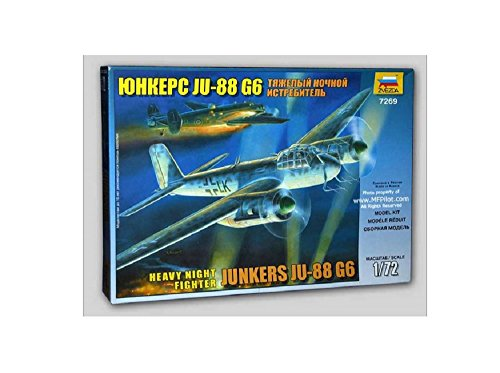 Zvezda Models 1/72 Junkers JU-88 G6 Model Kit