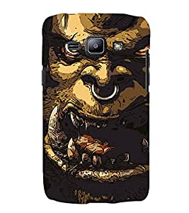 Alien Design 3D Hard Polycarbonate Designer Back Case Cover for Samsung Galaxy J1 :: Samsung Galaxy J1 J100F (2015)