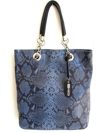 5dc912f893 Cynthia Rowley Handbags on Cynthia Rowley Python Snake Embossed Leather  Large Tote Handbag Blue