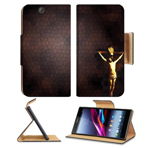 Jesus On Cross Pattern Background Sony Xperia Z Ultra Flip Case Stand Magnetic Cover Open Ports Customized Made To Order Support Ready Premium Deluxe Pu Leather 7 1/4 Inch (185Mm) X 3 15/16 Inch (100Mm) X 9/16 Inch (14Mm) Msd Sony Xperia Z Ultra Cover Pro