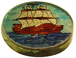 Irshikaa hues Paper Weight Ship (8x9x5 cm)