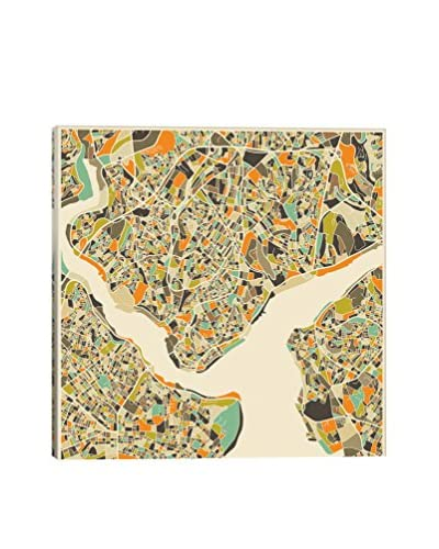 iCanvas Art Abstract City Map Of Istanbul By Jazzberry Blue Canvas Print