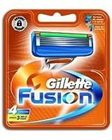 Gillette - 80201235 - Gilette Fusion - Pack de 4 Lames