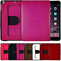 AirCase Premium Leather 360 Degree Rotatable Slim Portfolio Case For IPad Mini Retina[HOT PINK]