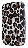 Textured Leopard Print Design Back Case Cover For BlackBerry Curve 9300