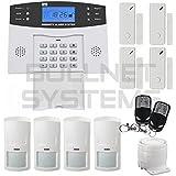 Kit Alarme de Maison Téléphonique sans fil RTC - Evolutive 99 zones (4) 4 zones
