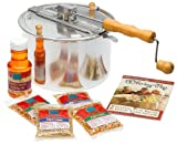 The Original Whirley Pop Stovetop Popcorn Popper Gourmet Set