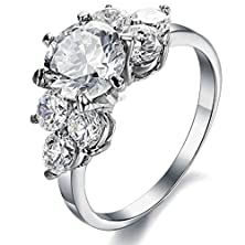 buy Amdxd Jewelry Stainless Steel Women'S Promise Rings Silver Round Shaped Size 9