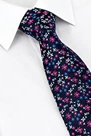 Machine Washable Floral Tie with Stain Resistant� [T12-1632-S]