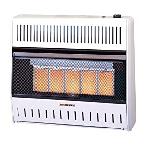 ProCom Vent-Free Dual Fuel Infrared Radiant Wall Heater - 5-Plaque, 30,000 BTU, Model# MD5TPA