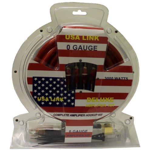 Q Power 1/0 Gauge Ga 3000W Car Amplifier Wiring Installation Kit Amp/Wire + Rca