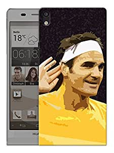 """Humor Gang Tennis God Poster Art Printed Designer Mobile Back Cover For """"Huawei Acsend P6"""" (3D, Matte, Premium Quality Snap On Case)"""