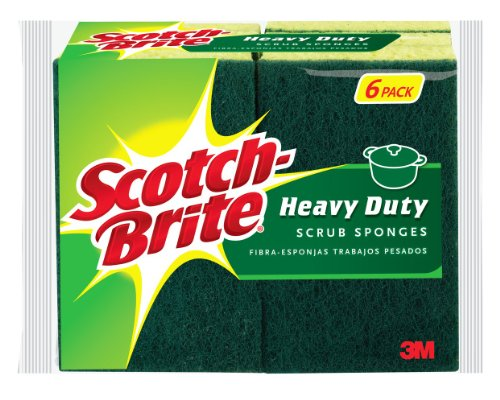 Scotch-Brite Heavy Duty Scrub Sponge, 6-Count (Sponge Scrubber Heavy Duty compare prices)