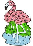 Crystal Golf Ball Marker & Hat/ Visor Clip - Flamingo