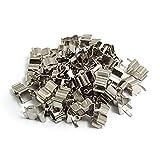 SODIAL(R)銀色の金属製ヒューズクリップX50 5 x 20mm