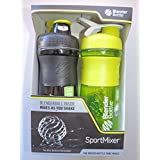 Mazaa Special! BlenderBottle SportMixer 28-ounce - Pack Of 2! Black/Green And Green/White
