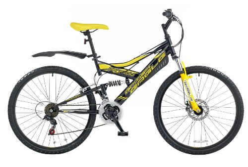 British Eagle Paranoid Men's Mountain Bike - Black/Yellow, 26 Inch