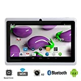 Tagital T7X 7' Quad Core Android 4.4 KitKat Tablet PC, Bluetooth, Dual Camera, Google Play Store, 2016 Newest Model (White)