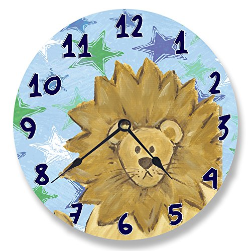 The Kids Room by Stupell Lion with Stars Wall Clock