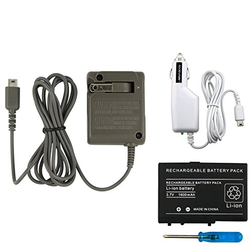 Everydaysource® Compatible With Nintendo Ds Lite Dsl Battery+Car Charger+Ac Power Wall Charger