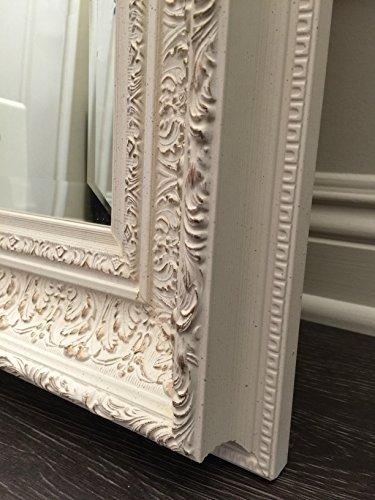 West Frames Elegance Ornate Embossed Antique White Wood Framed Floor Mirror 4