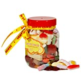 Retro Penny Mix Sweets and Candy Gift Jar (Small 750ml)