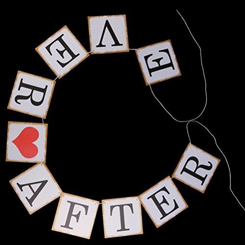 NUOLUX Carte papier Bunting bannière mariage Party Favors (blanc)