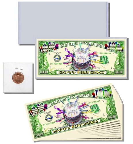 "13pc. Novelty Money Gift Set featuring ""Happy Birthday"" Million Dollar Bill - 1"