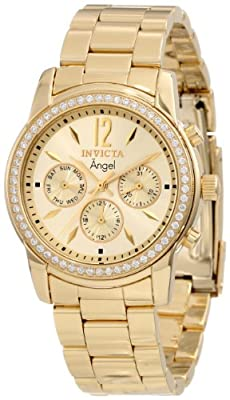 Invicta Women's 11770 Angel Gold Dial 18k Gold Ion-Plated Stainless Steel Watch from Invicta