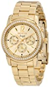 Invicta Womens 11770 Angel Gold Dial 18k Gold Ion-Plated