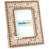 Collectible India Wooden Photo Frame Antique Design Decorative Frame With Brass Designing