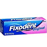 Fixodent Denture Adhesive Cream, Original, Strong And Long Hold - 0.75 Oz (Pack Of 5)