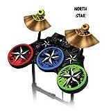 """Schutzfolien für Guitar Hero 4 """"World Tour"""" Drum set, passt für Xbox 360, PS3, PS2, WII – NORTHSTAR"""