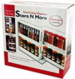 Sliding Store & More Swivel Cabinet Spice Jar Organizer rack - White - Great For Nail Polish & Medications too