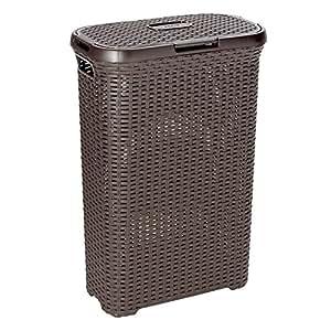 Curver 709 Dark Brown Laundry Basket 40 Litres