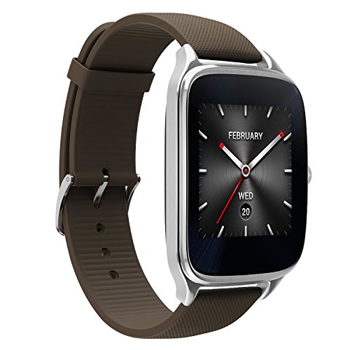 "ASUS Android Wear スマートウォッチ 「ZenWatch 2」1.65"" WI501Q-SR-BW-Q Silver case with Brown rubber watchband 急速充電対応モデル [並行輸入品] ASUSTek"