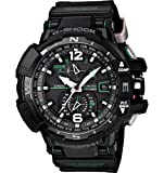 Military Watches Casio G-Shock GWA-1100-1A3 G-Aviation Series Mens Stylish Watch - Black / One Size